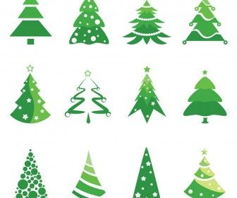 christmas tree logotype designs vector