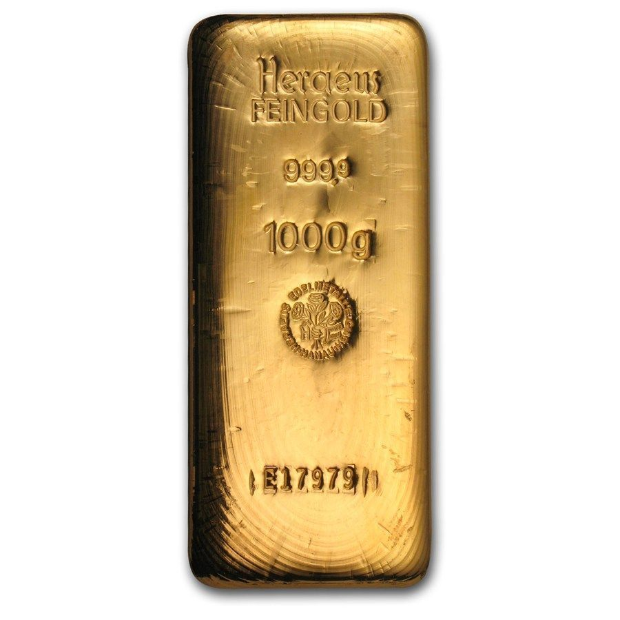 1 Kilo Gold Bar Heraeus Goldinvesting Gold Bullion Bars Buy Gold And Silver Gold Bullion Coins
