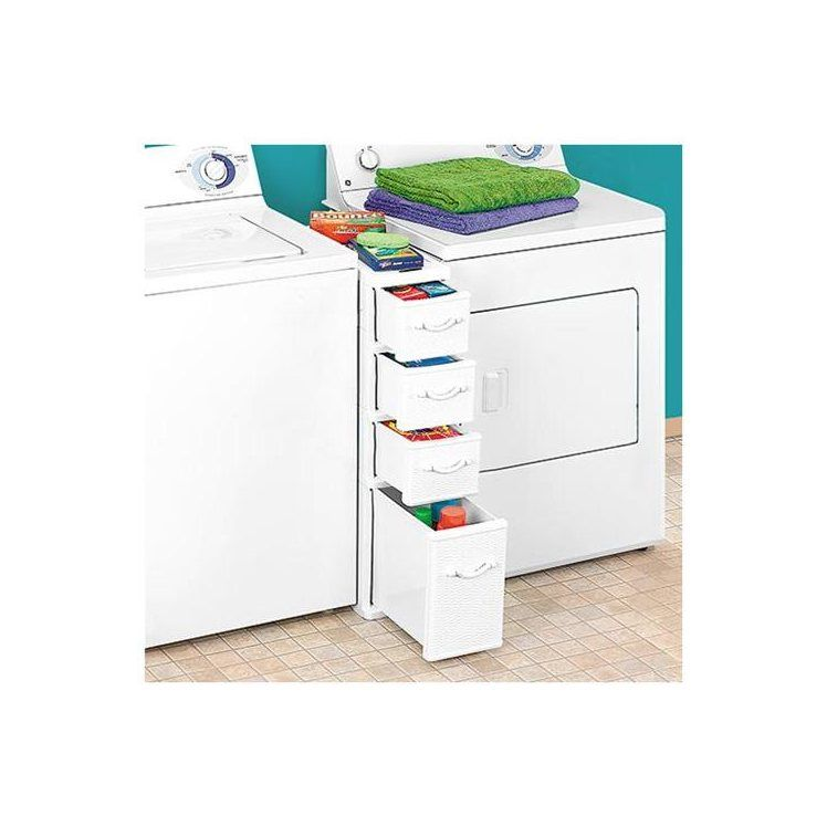 Superior Wicker Laundry Organizer Between Washer Dryer Drawers: Home U0026 Kitchen. Or  Do As I Did, And Purchase A Laundry Storage Cart (on Wheels) Perfect For  Between ...