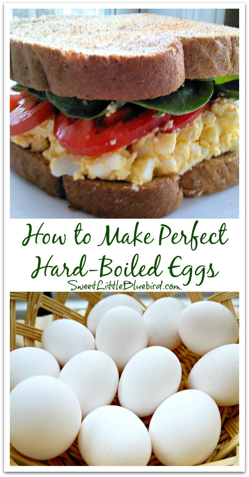 How to Make Perfect Hard-Boiled Eggs - Egg salad recipes included! {Classic Egg Salad & Avocado Egg Salad with Cilantro Lemon-Lime Mayo}    | SweetLittleBluebird.com