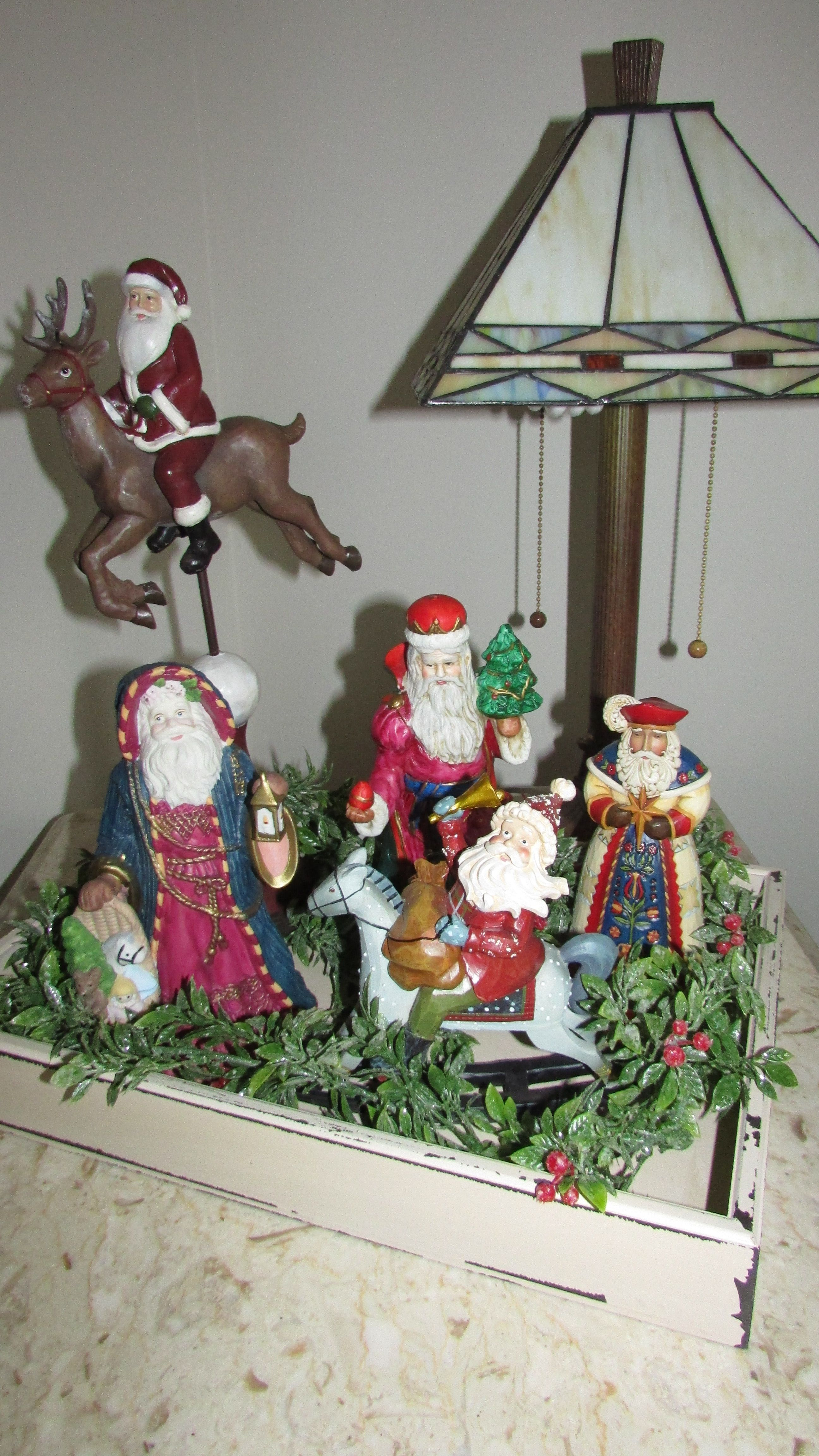 Christmas Tree Crafts Santas Collection In A Tray