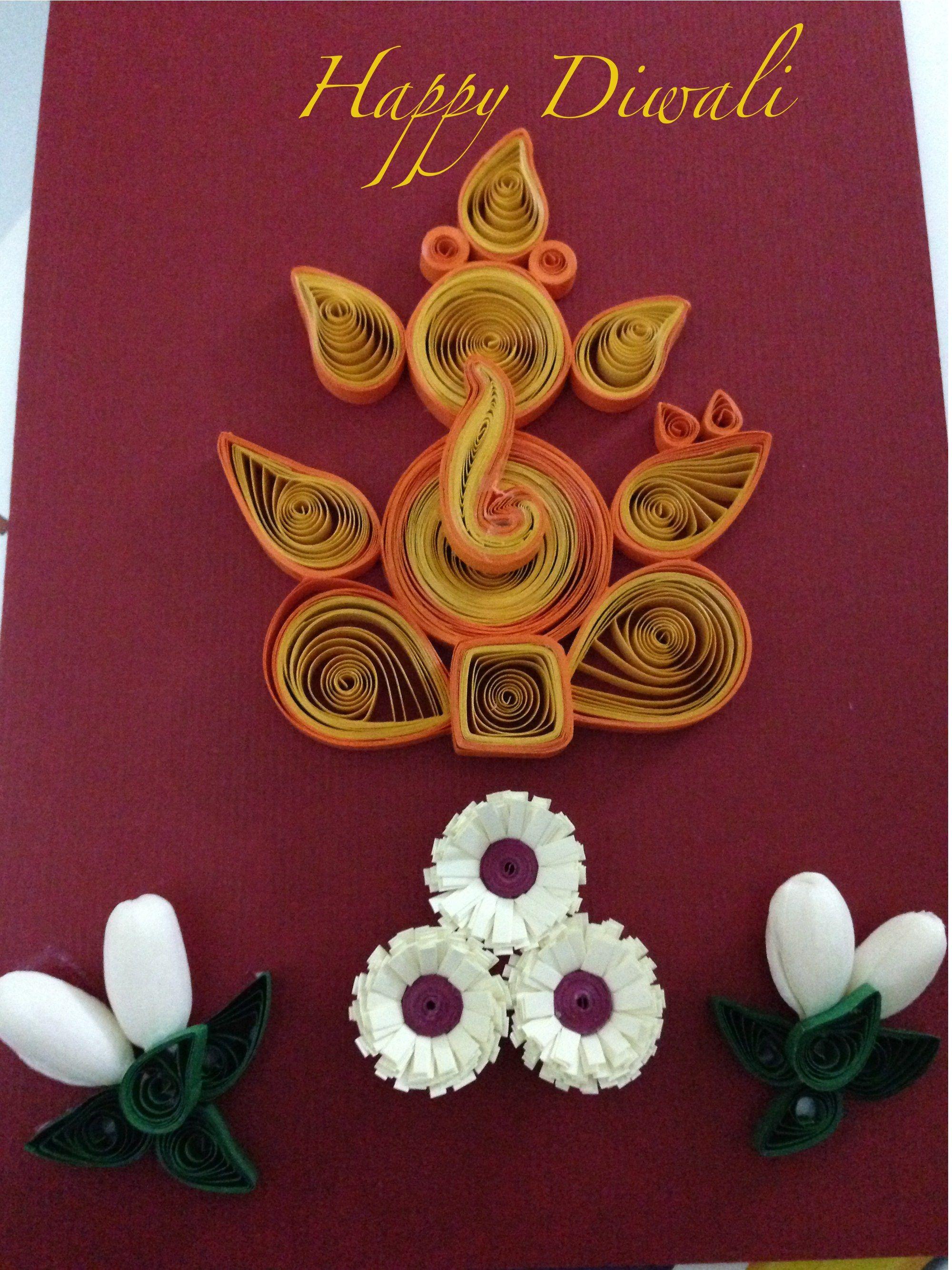 Ganesha Diwali Greeting Card Paper Art Pinterest Diwali