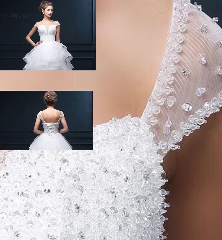 Adding Sleeves To A Wedding Dress: Detachable Strap. Beaded Tulle Strap. Would Be A Lovely