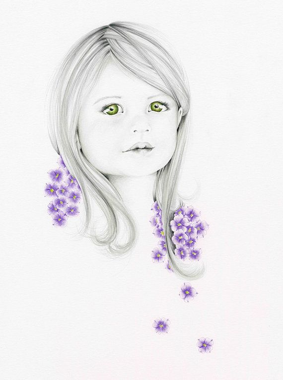 Custom portrait... Whimsical portrait. Pencil Drawing...    This is an example of my custom portraits that I can create especially for your