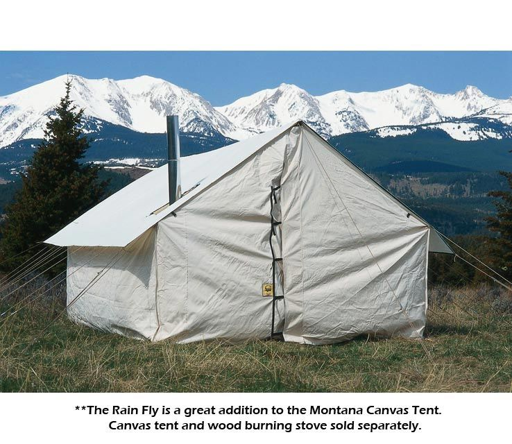Montana Canvas Tent Rain Fly Wall Tent Outfitter Tent Canvas Wall Tent