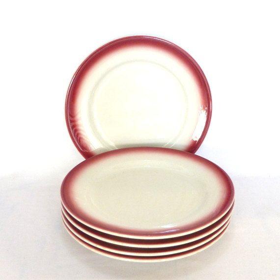 Mad Men Ware 5 Dinner Plates Vintage Restaurant Vintage Plates