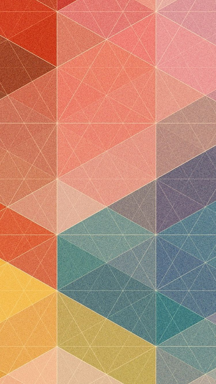 Download Polygon Triangles Pastel Pattern IPhone 6 Wallpaper Iphonewalls