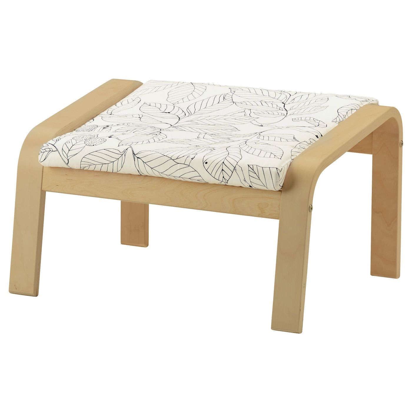 Ikea Poang Ottoman Birch Veneer Vislanda Black White The Cover Is Easy To Keep Clean As It Is Removable Layer Glued Ben Pouf En Tissu Ikea Stores Blancs