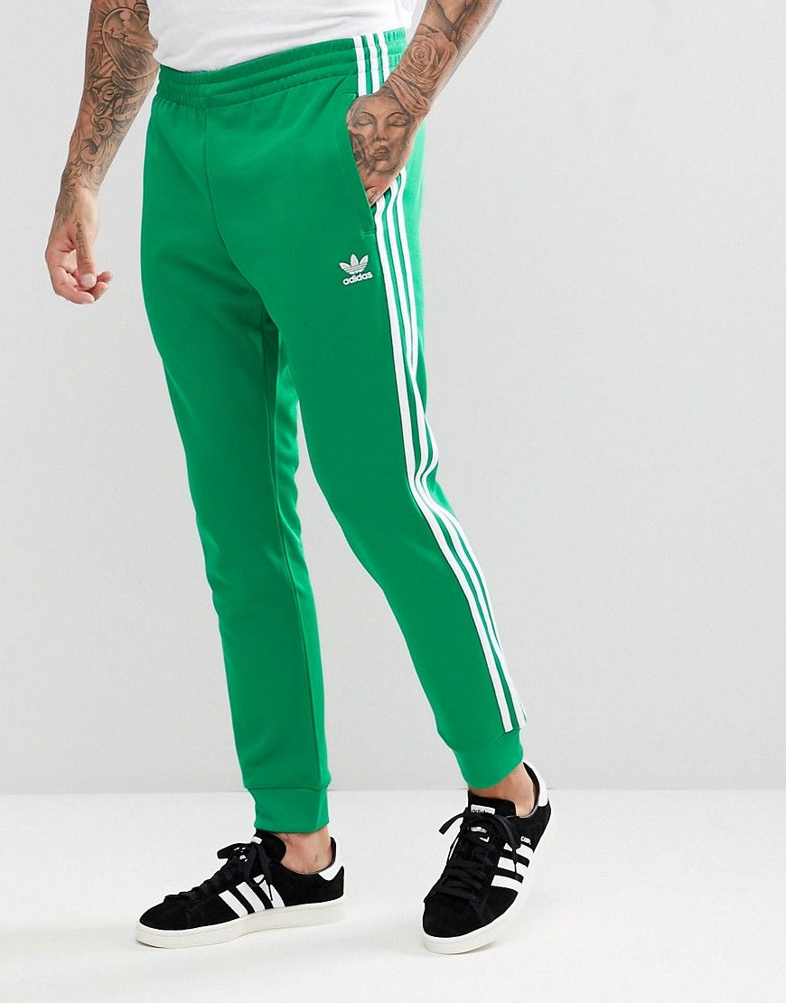 a57a90cc1968 ADIDAS ORIGINALS ADICOLOR SUPERSTAR JOGGERS IN GREEN CW1278 - GREEN.  #adidasoriginals #cloth #