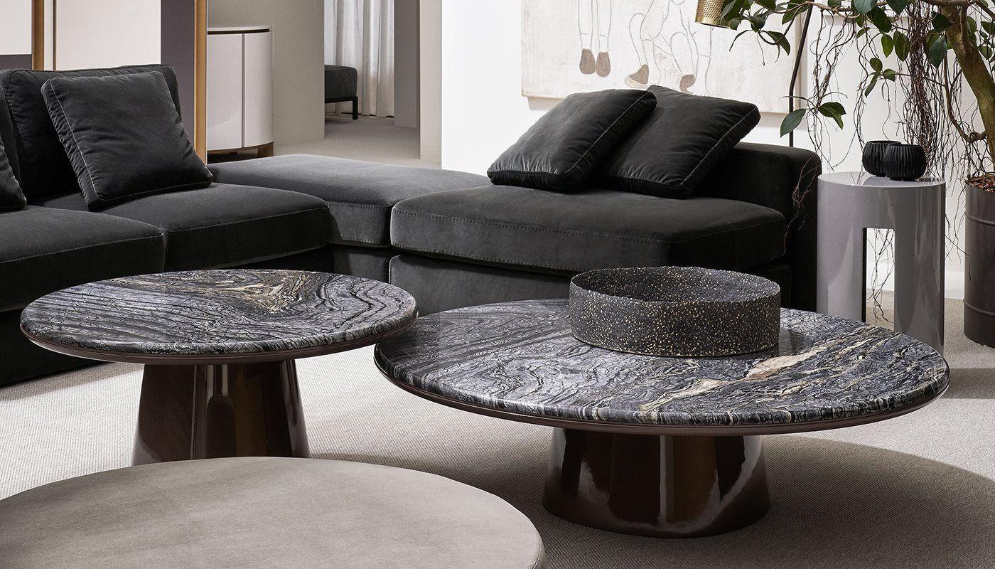 23 Meridiani Salone 2018 Harold Modular Sofa Leon Low Tables 1400x800 Coffee Table Marble Round Coffee Table Marble Coffee Table
