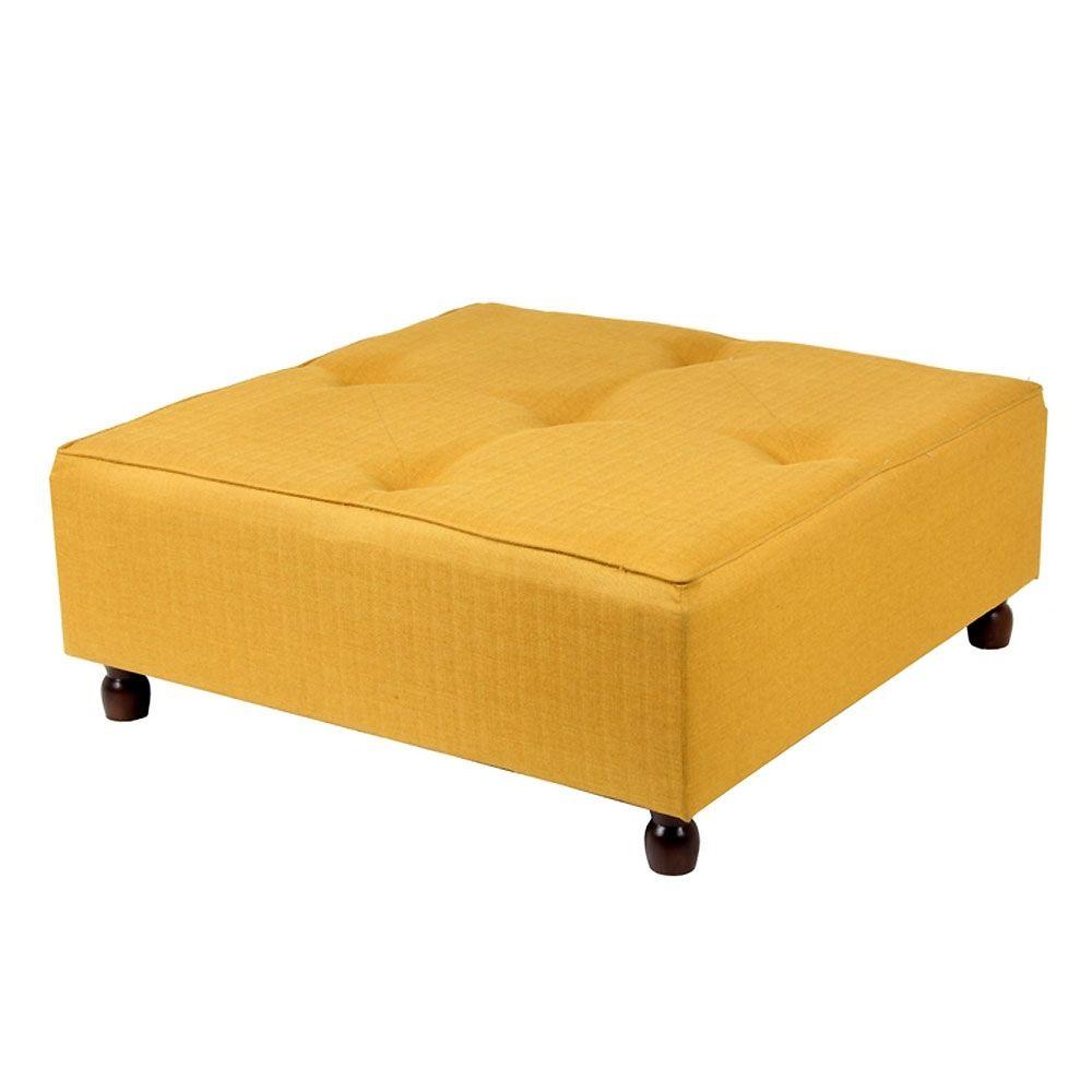 Incredible 36 Square Ottoman Apricot Gold Furniture Square Machost Co Dining Chair Design Ideas Machostcouk