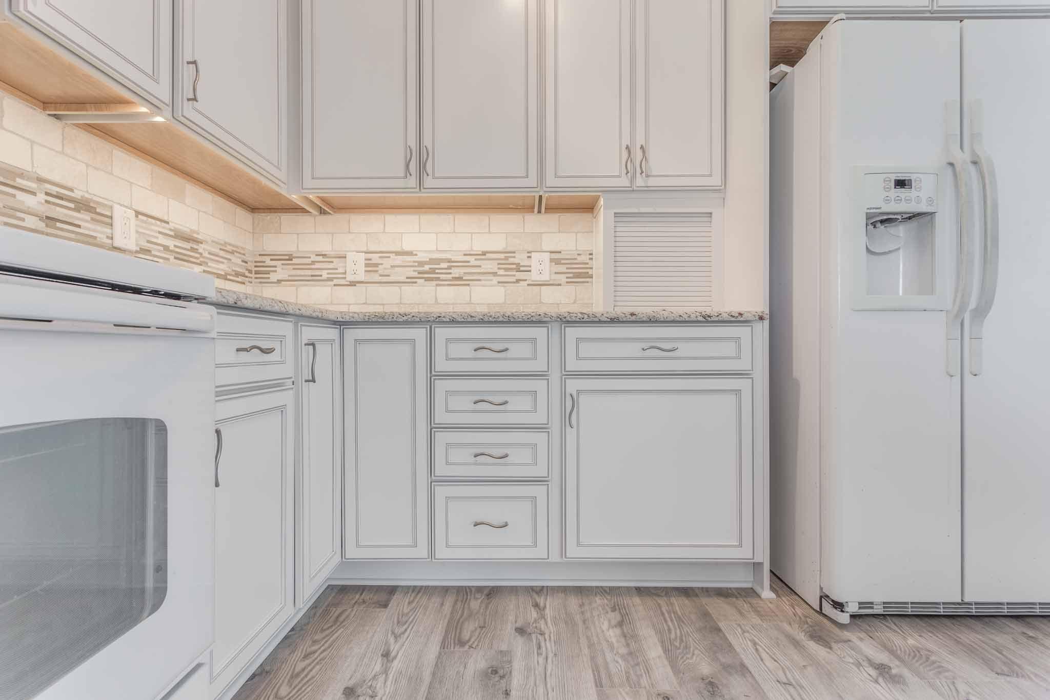 Kitchen Remodel Jacksonville Fl Stools Walmart Merillat 'bellingham' Cabinetry Color Is Cotton W/tuscan ...