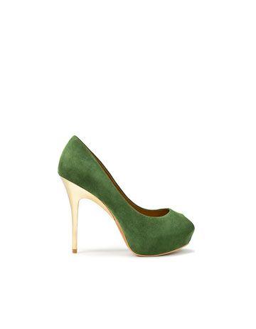 c2f573e74d9 I ♥ this green! ZARA PEEP TOE WITH INTERNAL PLATFORM  89.90