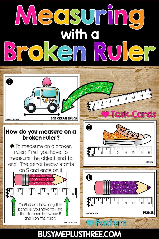 Measuring with a Broken Ruler Task Cards [ 1440 x 960 Pixel ]