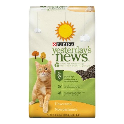 Purina Yesterday's News Unscented Cat Litter, 15 Lb