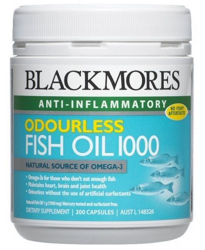 Blackmores Odourless Fish Oil 1000 200 Caps Helping You To Get Your Daily Omega 3s Blackmores Odourless Fish Oil 1000 Contains The Natural Goodness Of Fish Oi