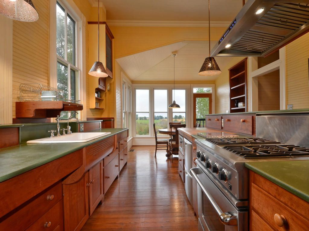 1890s kitchen refurbished Old farmhouse kitchen, Country
