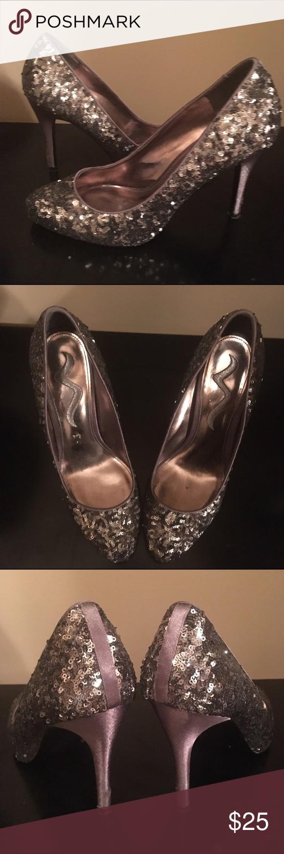Nina Sequin heels Heels are in excellent condition size 9.5 Nina Shoes Heels