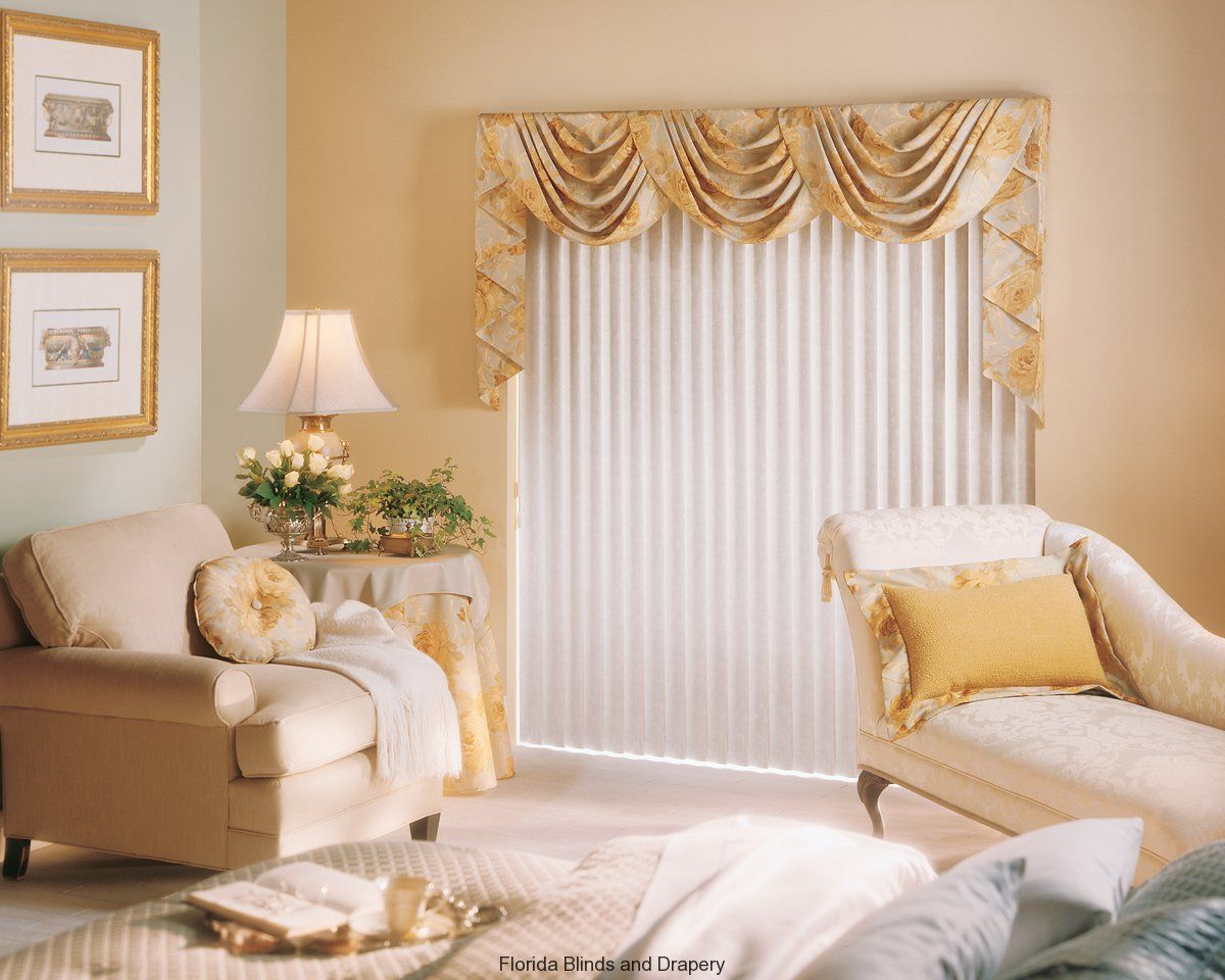 VALANCES AND SWAGS For Sliding Glass Doors With Vertical Blinds