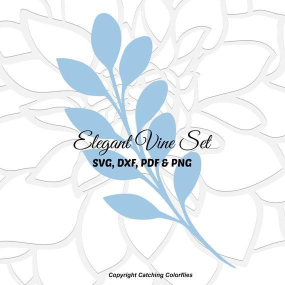Leaf Vine Template Set, Paper Vine & Leaves, Paper Flower Leaf Templates, SVG Cut Files for Cricut, Instant Download #largepaperflowers