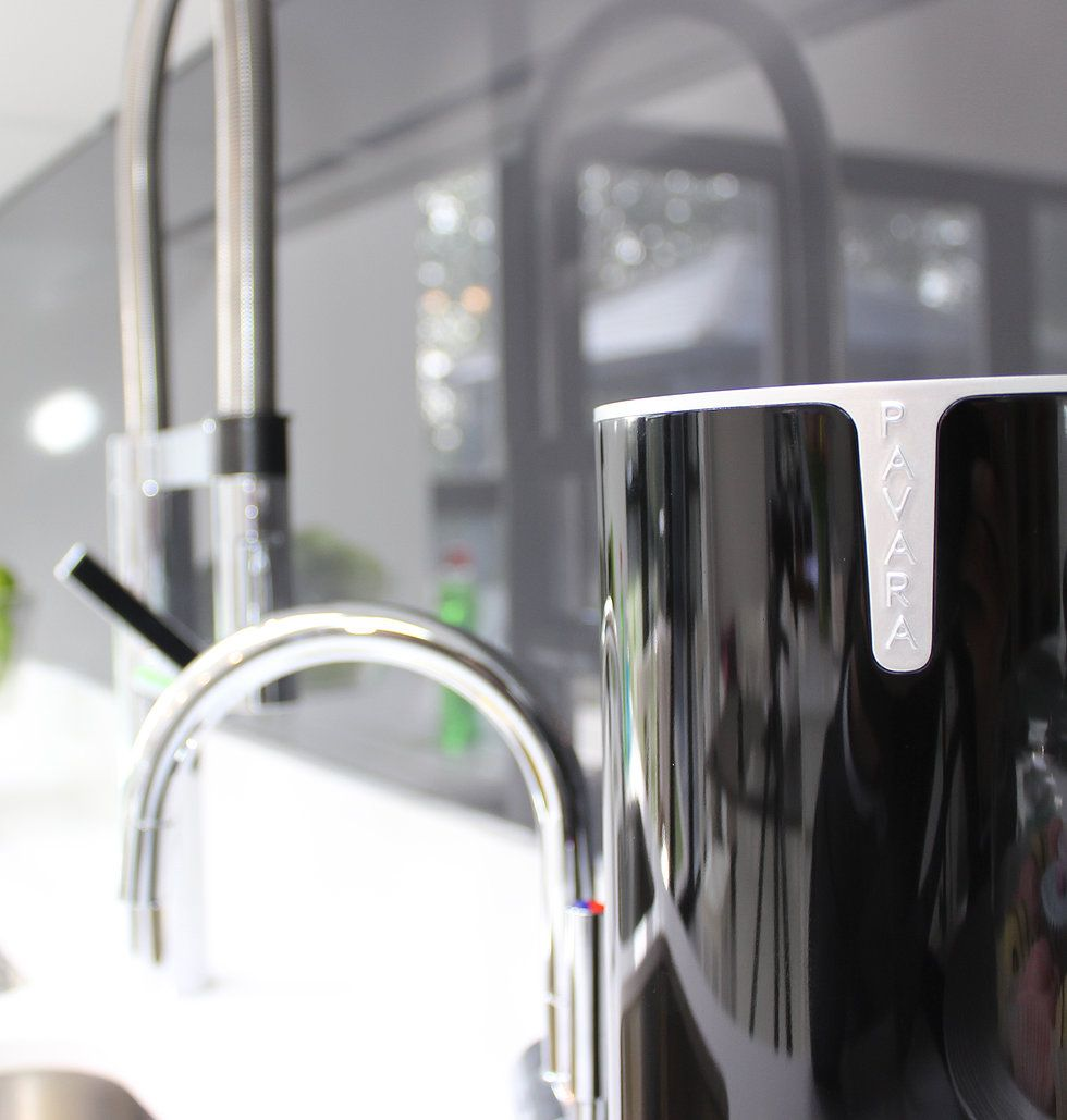 Rotating sink tidy that can reveal its hidden contents (washing up ...