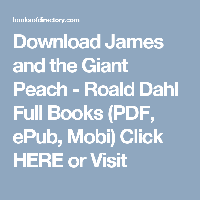 James And The Giant Peach Epub