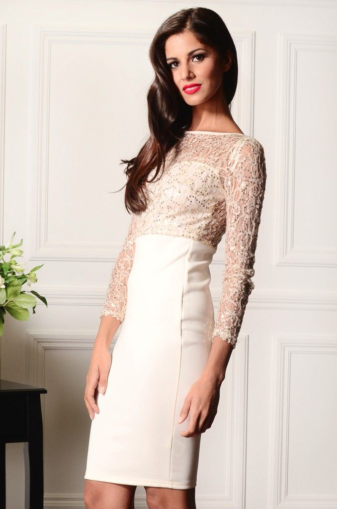 €1 DELIVERY Offer ends midnight tonight! LACE 3/4 SLEEVE OVERLAY NUDE AND BLACK €44.00