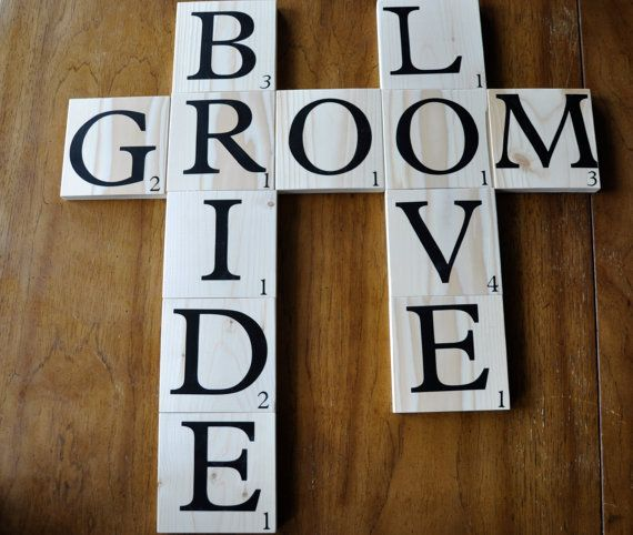 Huge scrabble letters for wedding deco decoration - Scrabble decoracion ...