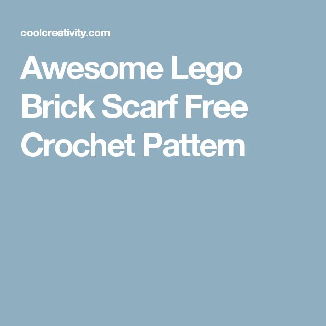 Awesome Lego Brick Scarf Free Crochet Pattern   Caprese