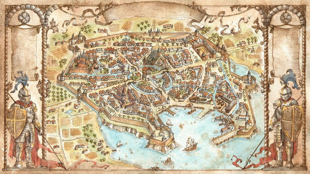 City Map - That Which Sleeps Game by FrancescaBaeralddeviantart - new random world map generator free