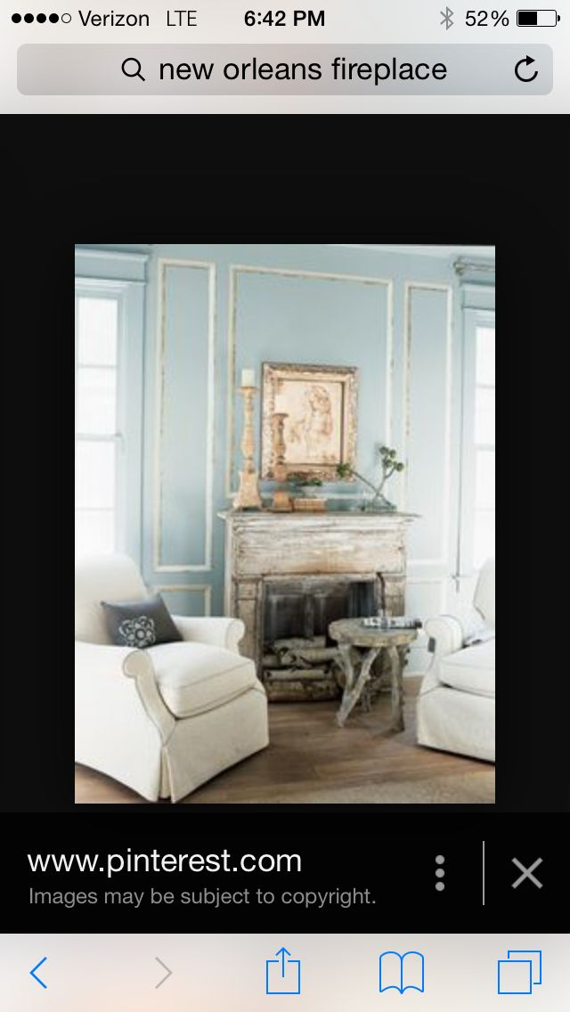 Chalk painted moulding