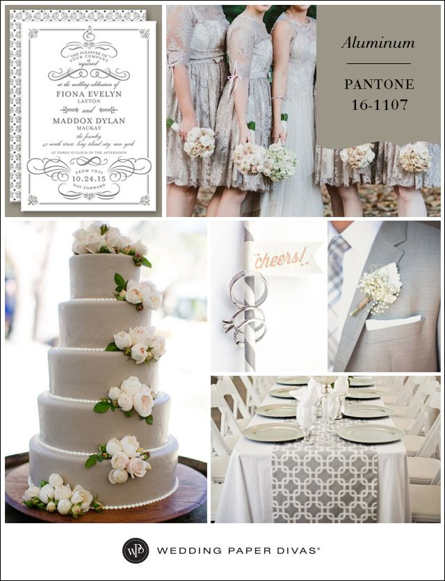 pantone aluminum inspiration board   decoración de boda   boda