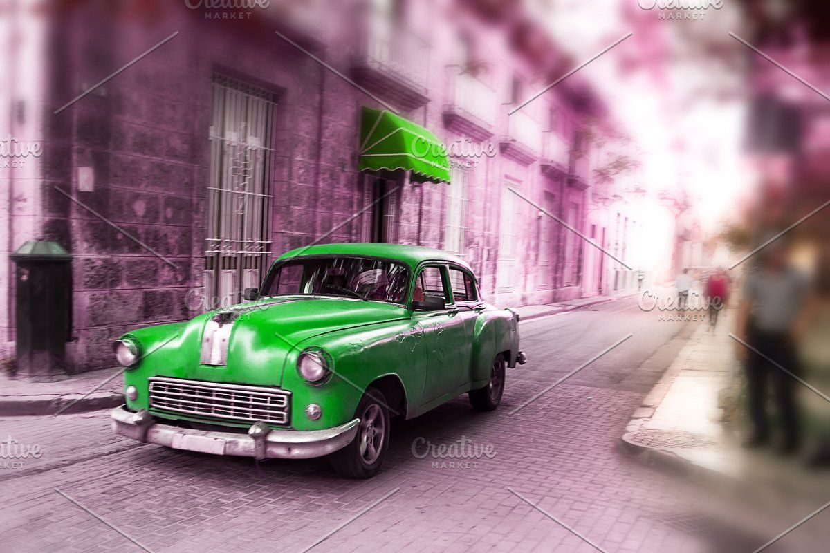 Green, old american classical car in #Sponsored , #Sponsored, #classical#america…