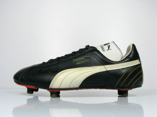 6c7690219bf vintage PUMA MEXICO Football Boots size UK 9 rare OG 80s leather ...
