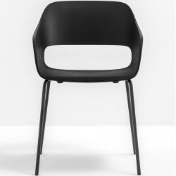 Photo of Pedrali Babila 2735 sillón de exterior blanco negro Pedrali