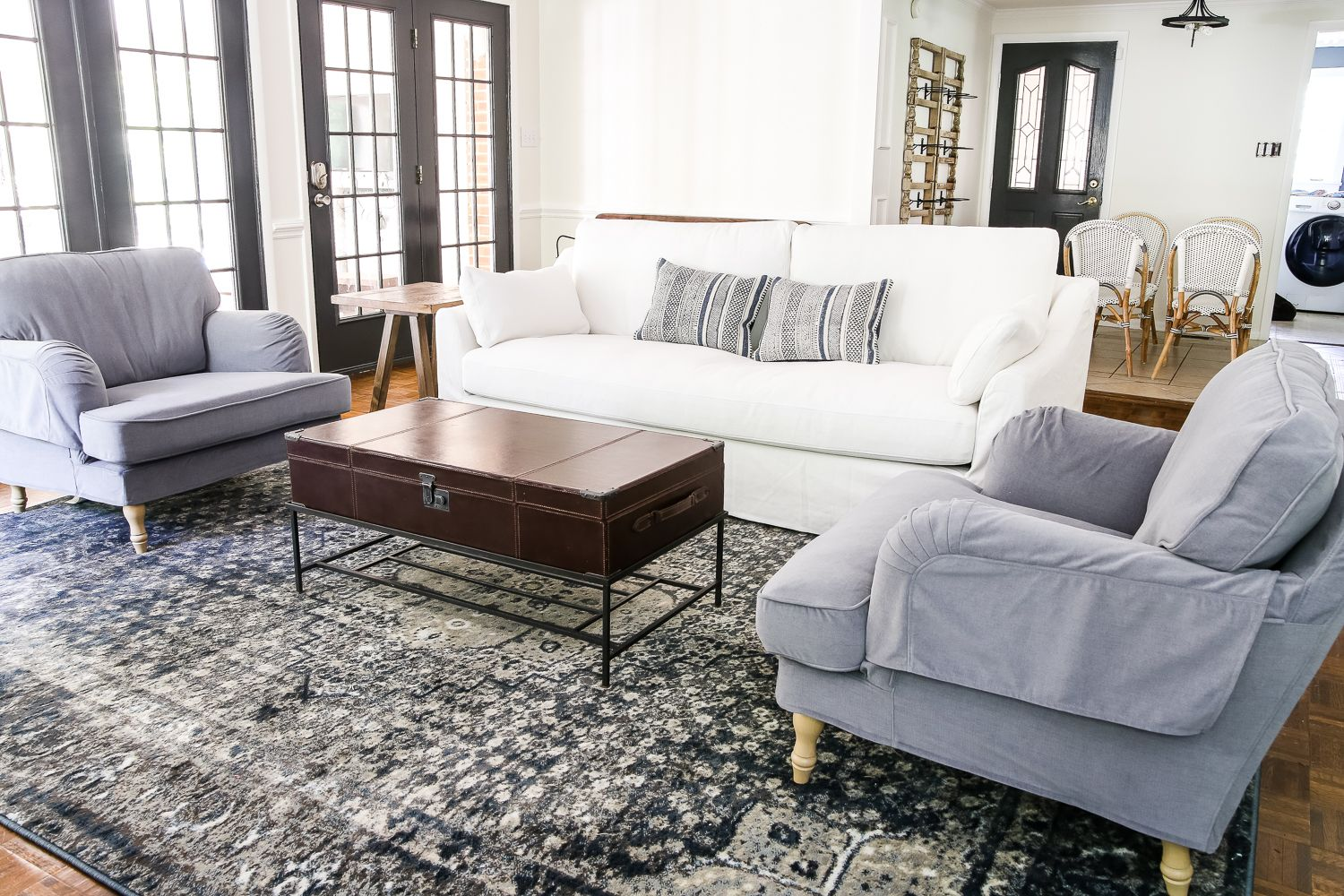 I air dry our slipcover on our breakfast nook chairs and our cushion cover. IKEA's New Sofa and Chairs and How to Keep Them Clean ...