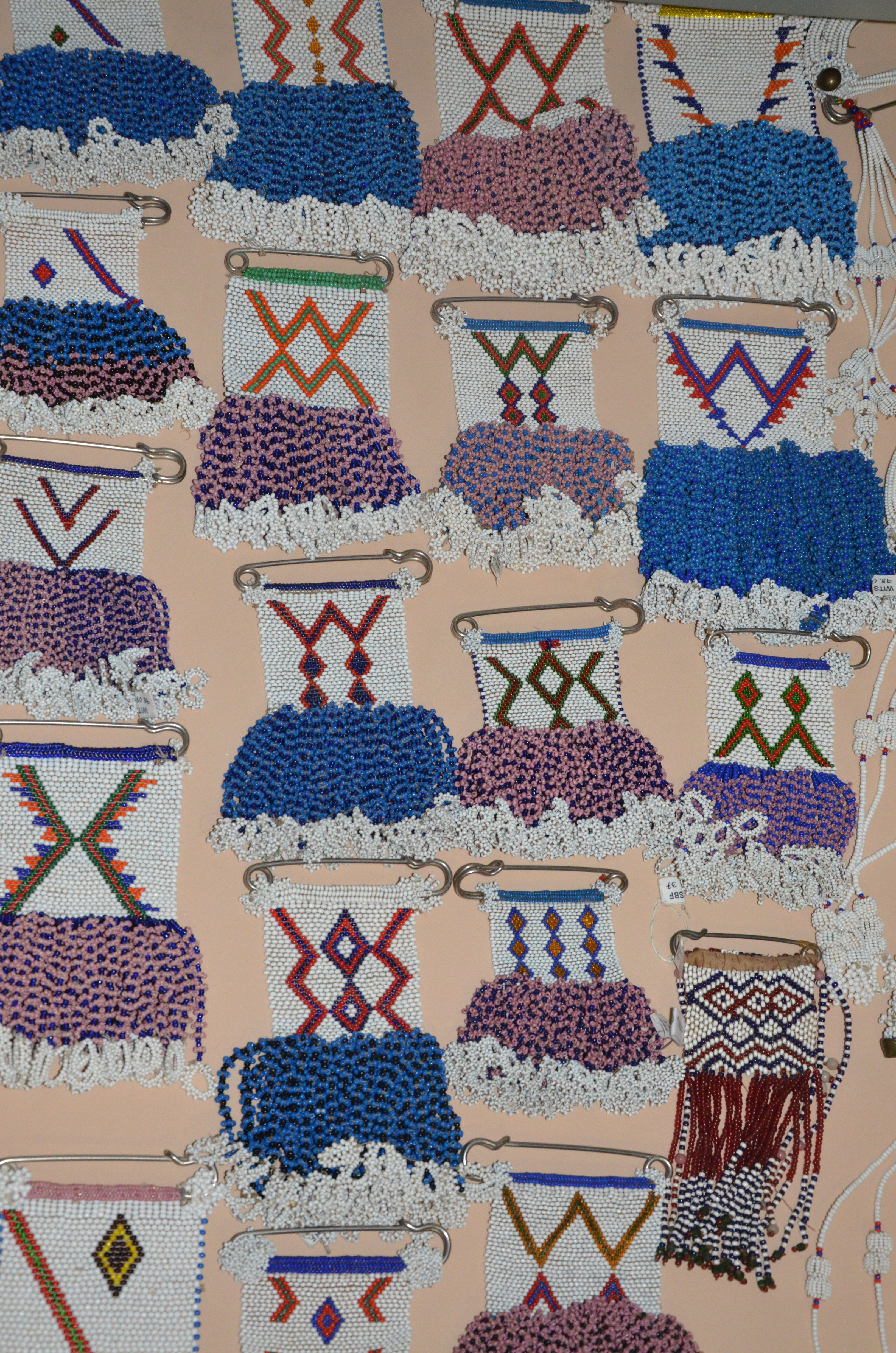 African beaded blanket strip