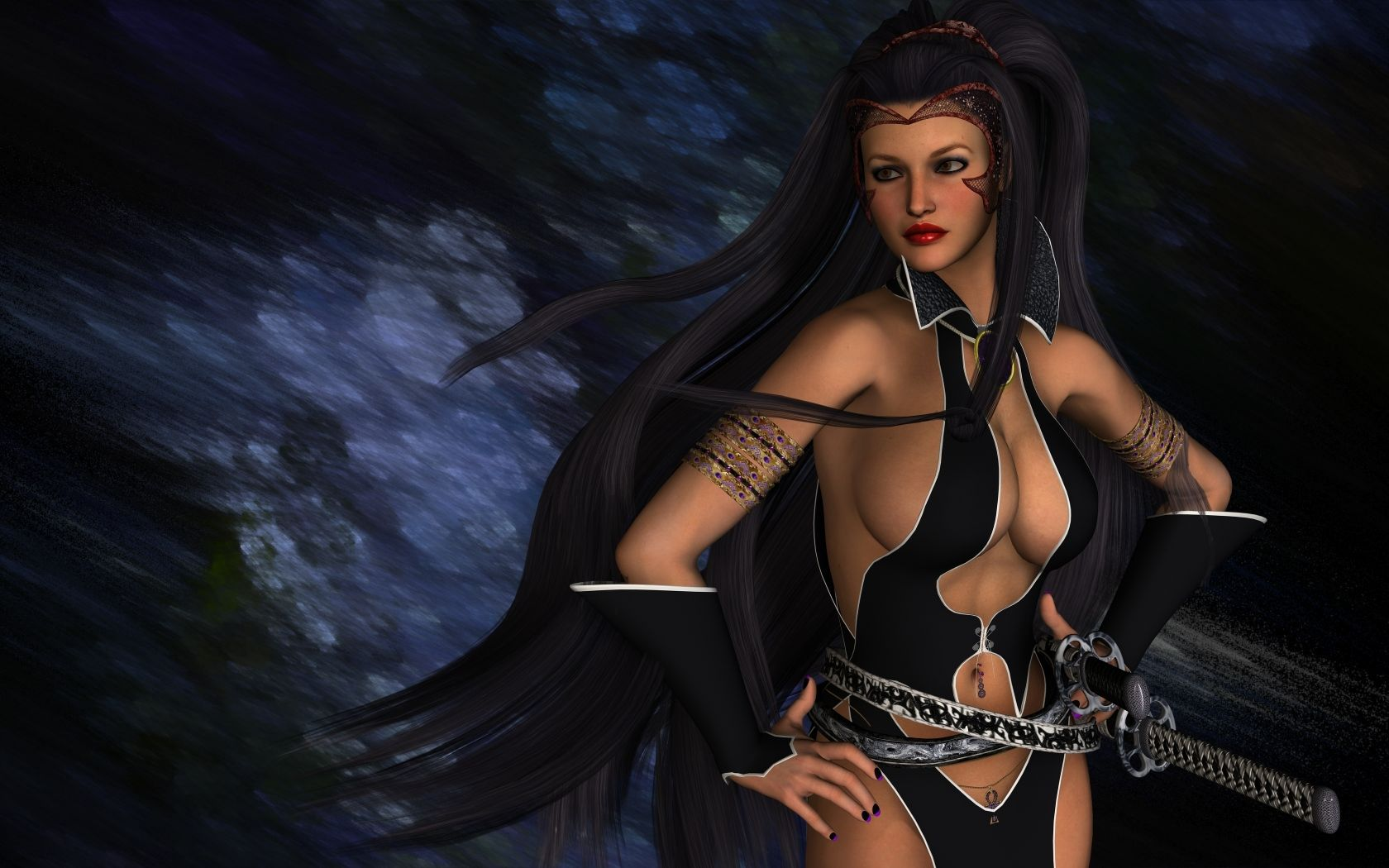 Hot!! erotic woman warrior fantasy art