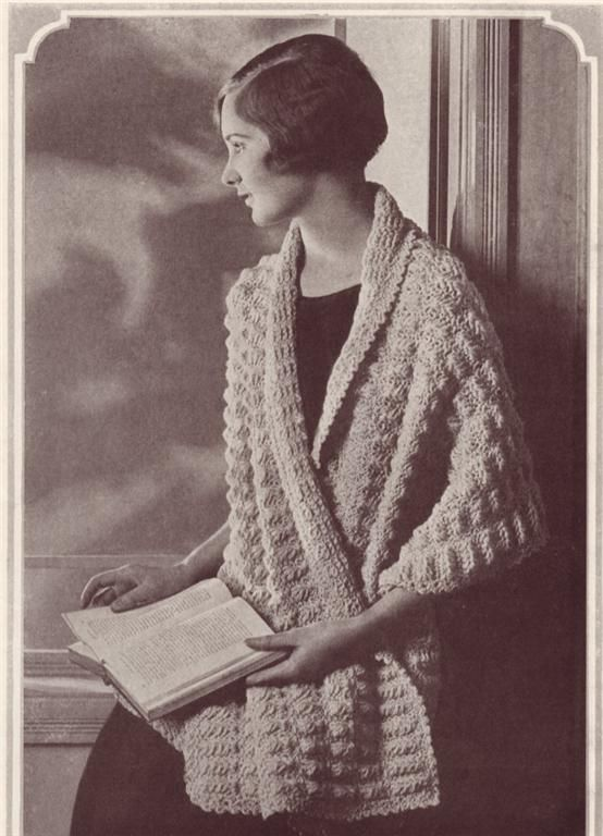 1920's crochet wrap vintage pattern | Crochet cardigan ...