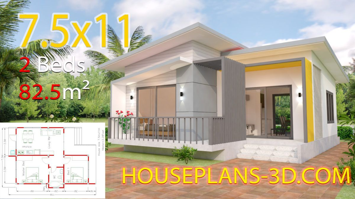 House Design 10x12 With 3 Bedrooms Terrace Roof House Plans 3d In 2020 Small House Design Small House Design Plans House Plans