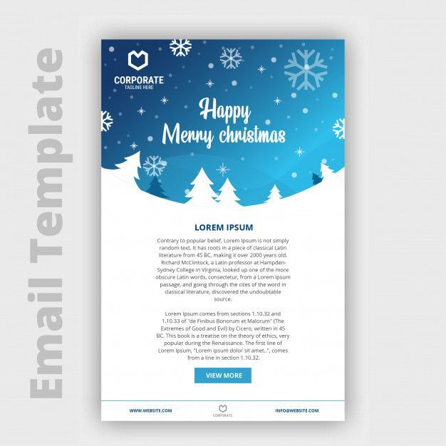 Christmas Email Template | Download now Premium vectors on ...