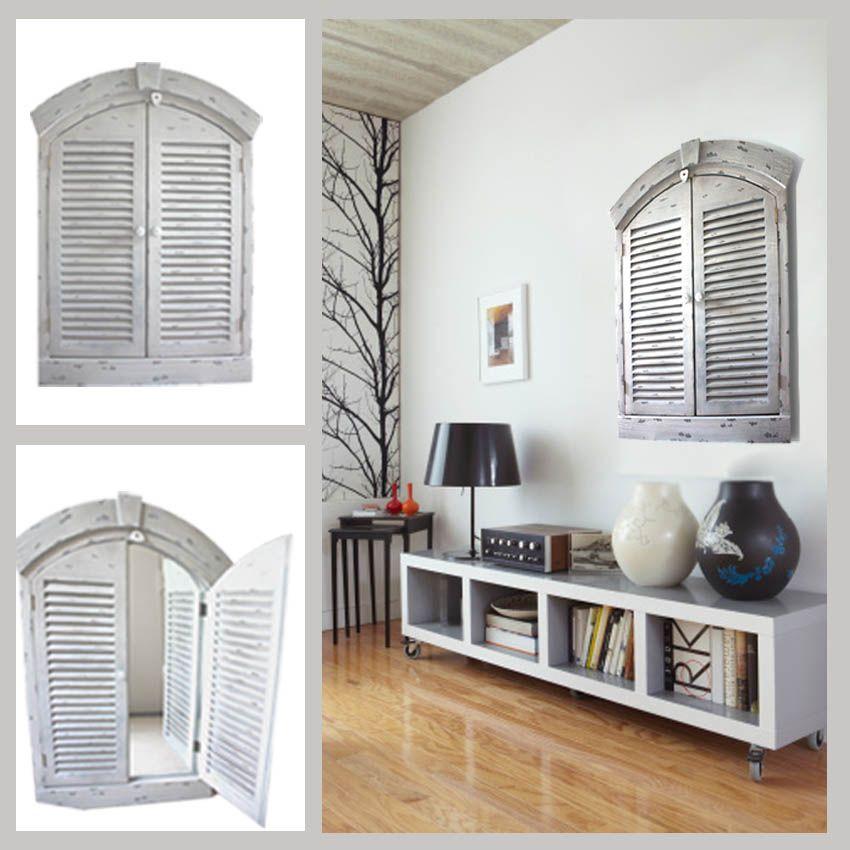 Espejo ventana pintado a mano ideal para verse solo for Restauracion de puertas antiguas