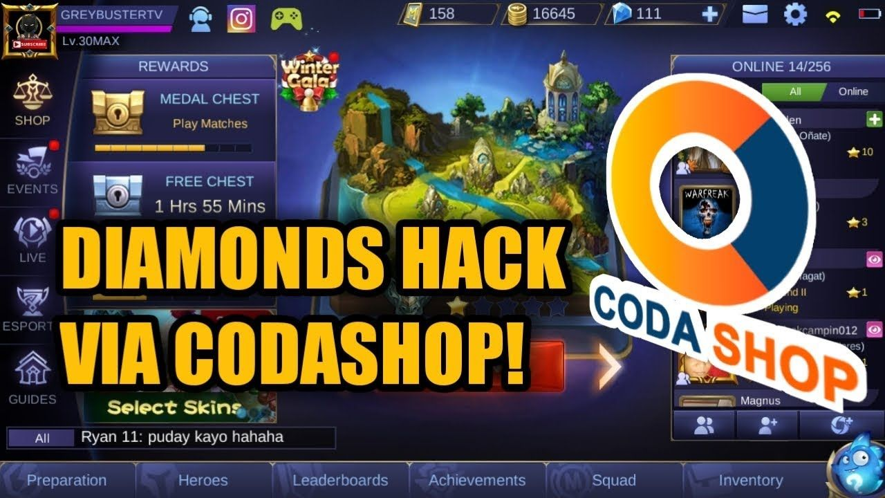 MOBILE LEGENDS DIAMONDS H@CKK! VIA CODASHOP REVEAL