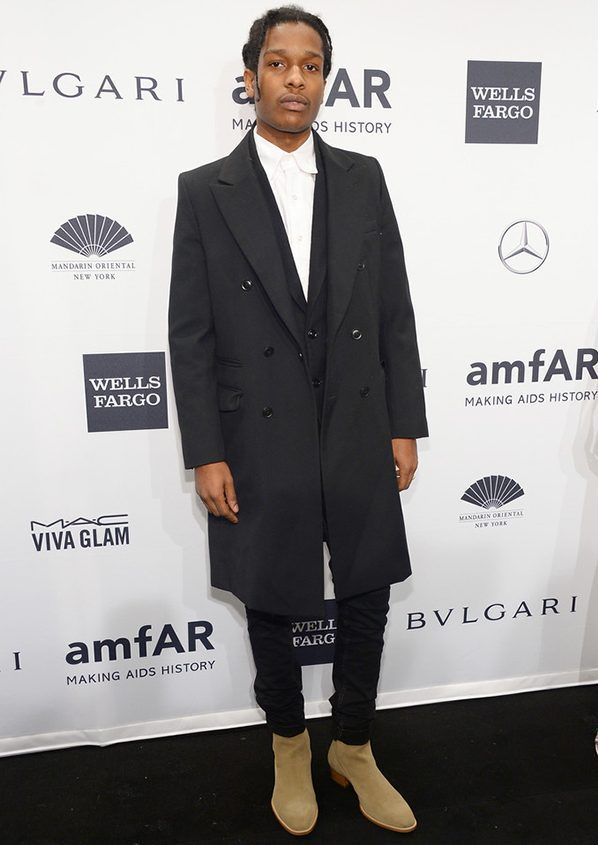 asap rocky black overcoat