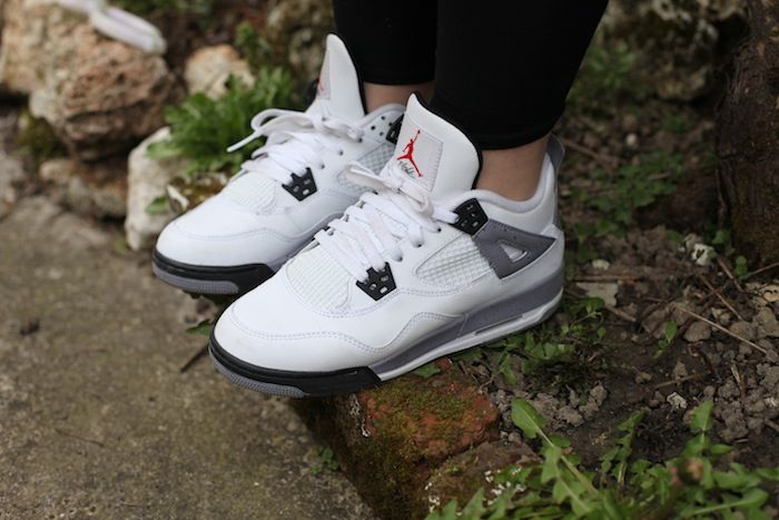 Jordan 4 White Cement Women