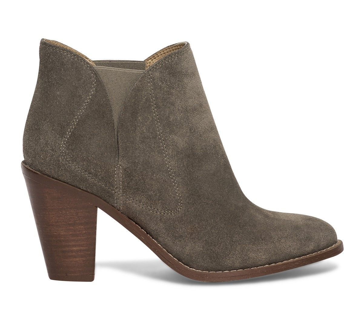 boots croûte de cuir taupe - boots / bottines - chaussures femme