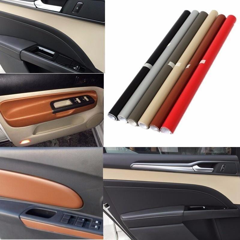 3D Car Interior Leather Sticker DIY Auto Texture Dashboard Trim Wrap Sheet Film