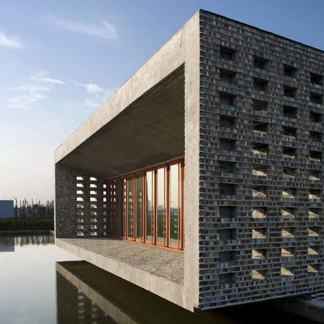 Ceramic House, 2003-2006, Jinhua, China. projects by Chinese architect Wang Shu of Amateur Architecture Studio, who has been named 2012 Pritzker Prize Laureate.