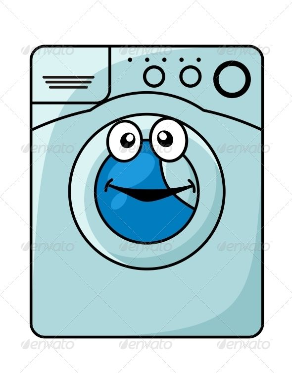 Washing Machine Cartoon Cartoon Styles Cartoon Washing Machine