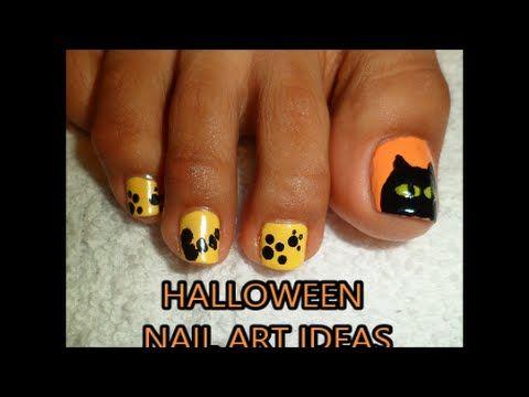 Ideas Haloween Decoracin De Uas Para Los Pies Halloween Nail Art